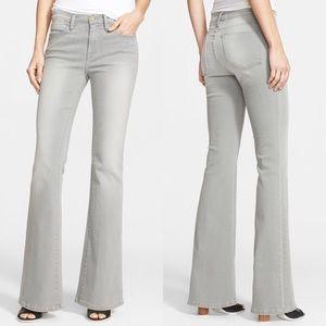 FRAME Le High Waisted Flare Gray Hardy Jeans